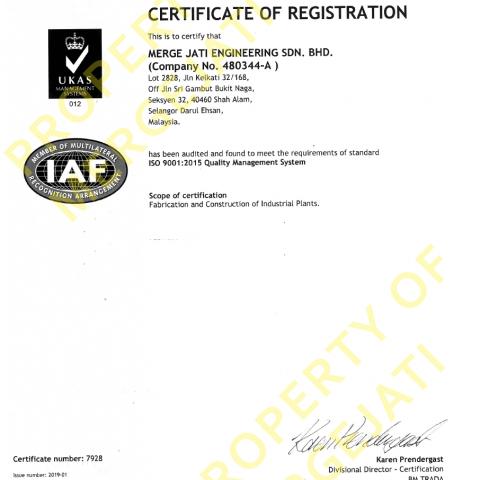 ISO Registration Certificate