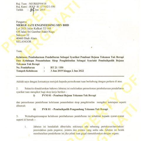 JKKP License - PVM01 & 02