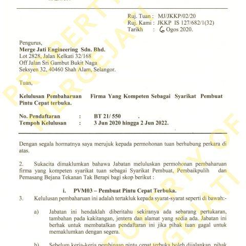 JKKP License - PVM03